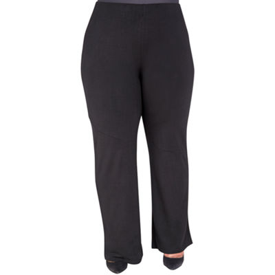 Poetic Justice Curvy French Terry Knit Palazzo Pant - Plus