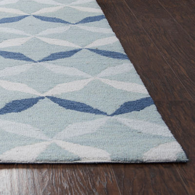 Rizzy Home Arden Loft-Easley Meadow Collection Poppy Geometric Area Rug