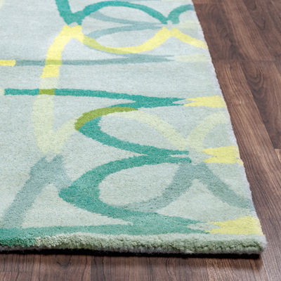 Rizzy Home Bradberry Downs Collection Hannah Abstract Area Rug