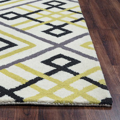 Rizzy Home Bradberry Downs Collection Megan Geometric Area Rug