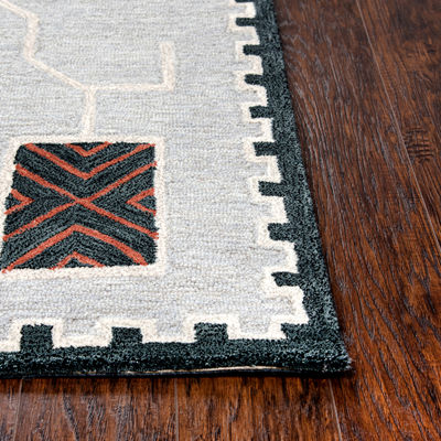 Rizzy Home Mesa Collection Amen Hand-Tufted Various Area Rug