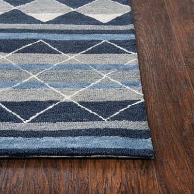 Rizzy Home Arden Loft-Sandhurst Collection Callum Hand-Tufted Stripe Area Rug