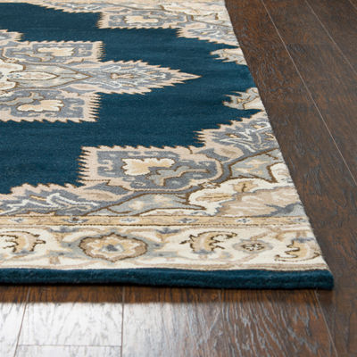 Rizzy Home Arden Loft-Crown Way Collection Colette Hand-Tufted Medallion Rug
