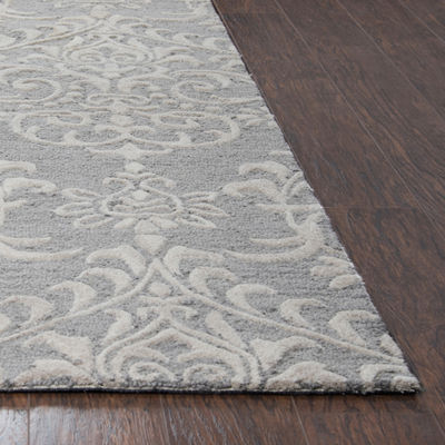 Rizzy Home Arden Loft-Falmouth Fields  CollectionCoraline Hand-Tufted Damask Rug