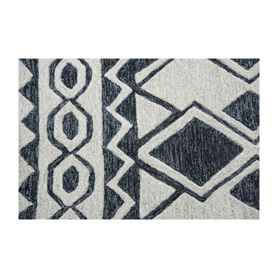 Rizzy Home Arden Loft-Sandhurst Collection Duke Hand-Tufted Geometric Area Rug
