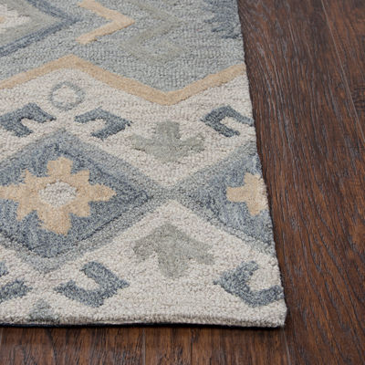 Rizzy Home Arden Loft-Sandhurst Collection Dustin Hand-Tufted Geometric Area Rug