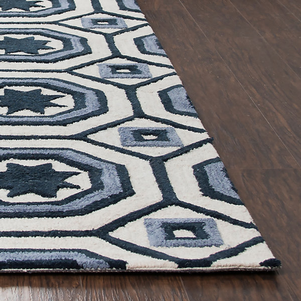Rizzy Home Arden Loft-Lisbon Corner Collection Imani Hand-Tufted Geometric Rug