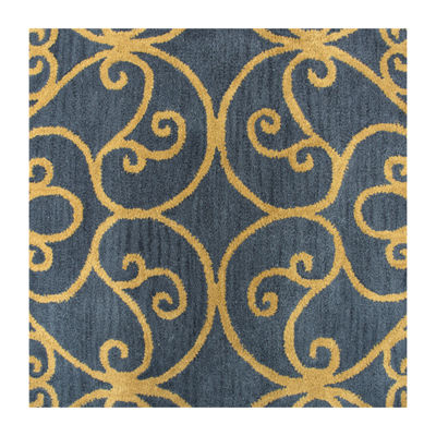 Rizzy Home Arden Loft-Lewis Manor Collection Ophelia Hand-Tufted Scroll Rug