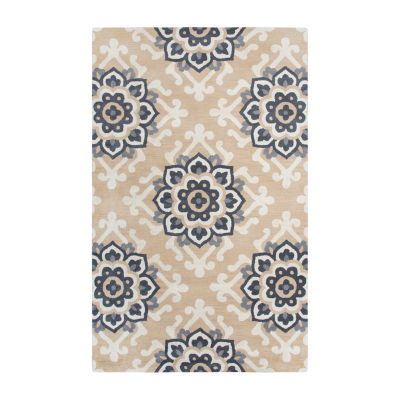 Rizzy Home Andrew Charles-Marianna Fields Collection Sarai Hand-Tufted Medallion Area Rug