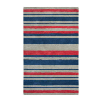 Rizzy Home Andrew Charles-Marianna Fields Collection Selah Hand-Tufted Stripe Area Rug