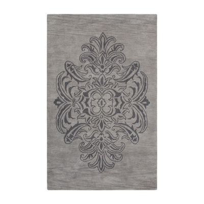 Rizzy Home Andrew Charles-Marianna Fields Collection Sierra Hand-Tufted Medallion Area Rug