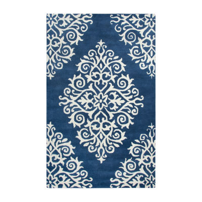 Rizzy Home Andrew Charles-Marianna Fields Collection Sylvia Hand-Tufted Medallion Area Rug