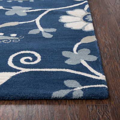 Rizzy Home Andrew Charles-Marianna Fields Collection Tatum Hand-Tufted Paisley Area Rug