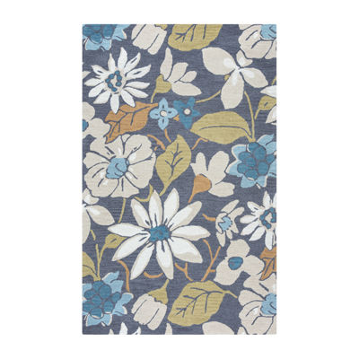 Rizzy Home Arden Loft-River Hill Collection Viviana Hand-Tufted Floral Rug