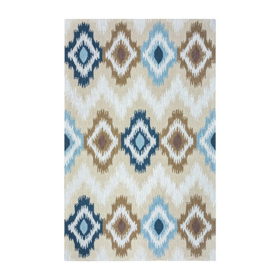 Rizzy Home Arden Loft-River Hill Collection Yara Hand-Tufted Diamond Rug
