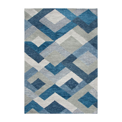 Rizzy Home Arden Loft-Sandhurst Collection Zelda Hand-Tufted Geometric Area Rug