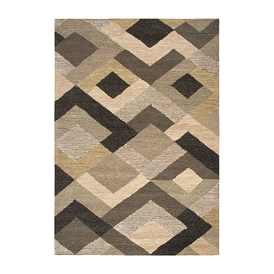 Rizzy Home Arden Loft-Sandhurst Collection Zelda Hand-Tufted Geometric Area Rug