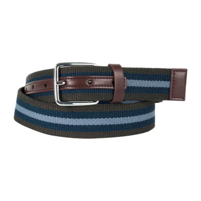 Dallas + Main Casual Striped Belt