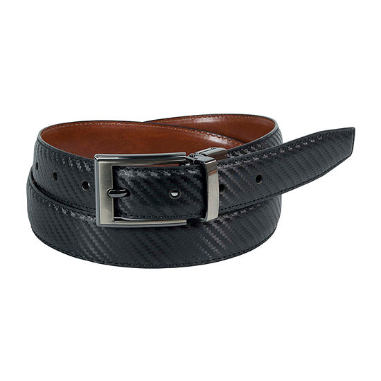 Dallas Main Twill Embossed Reversible Dress Belt
