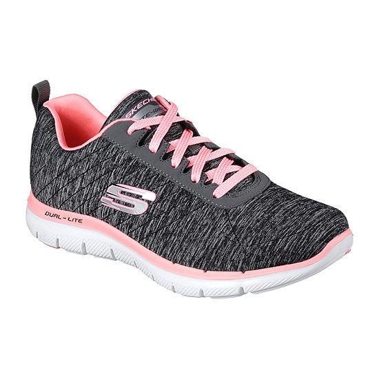 Skechers Flex Appeal 2.0 Womens Walking Shoes Lace-up