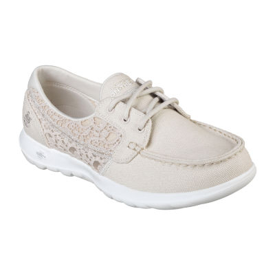 Skechers Womens Go Walk Lite Boat Shoes Slip-on