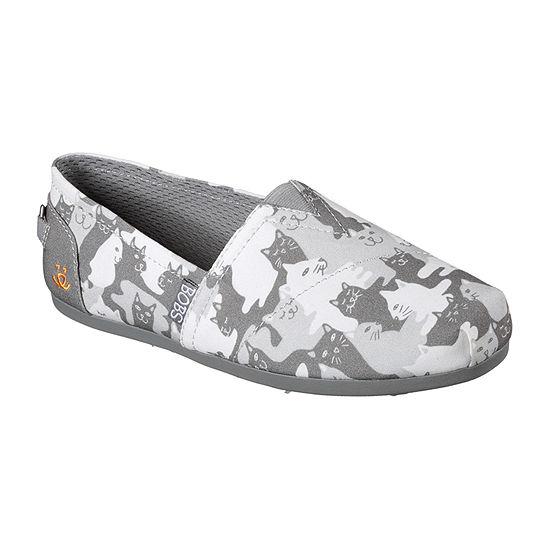 Skechers Bobs Womens Catmouflage Slip-On Shoe Closed Toe