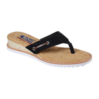 Skechers Womens Desert Kiss Off Grid Flat Sandals