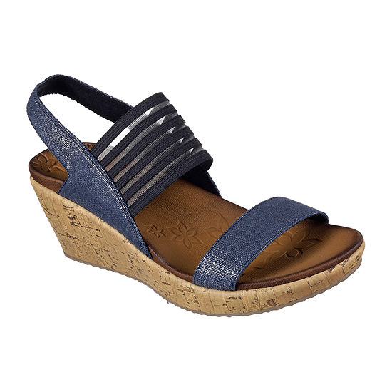 Skechers Womens Beverlee Wedge Sandals