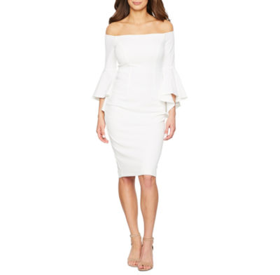 Premier Amour 3/4 Sleeve Sheath Dress