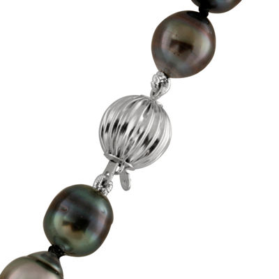 Splendid Pearls Womens 9MM Cultured Tahitian Pearls 14K Gold Strand Necklace