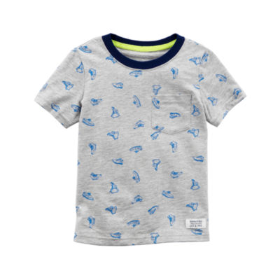 Carter's Short Sleeve Graphic T-Shirt-Toddler Boys 2T-5T