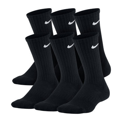 Nike Performance Cushioned 6 Pack Crew Sock - Boys