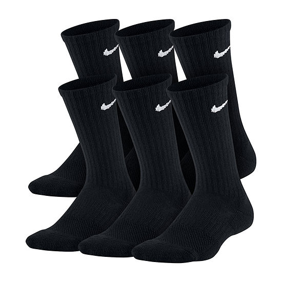 Nike 6 Pair Crew Socks Boys Big Kid