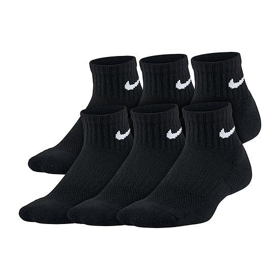 Nike Big Kid Boys 6 Pair Quarter Socks