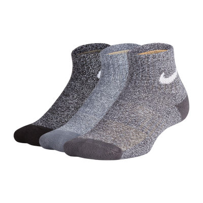 Nike Performance Cushioned Quarter 3 Pack Socks - Boys