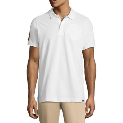 U.S. Polo Assn. Embellished Short Sleeve Pique Polo Shirt