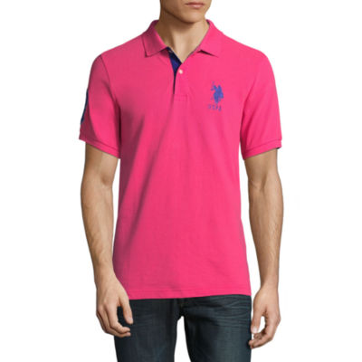 U.S. Polo Assn. Short Sleeve Big Pony Contrast Collar Polo Shirt