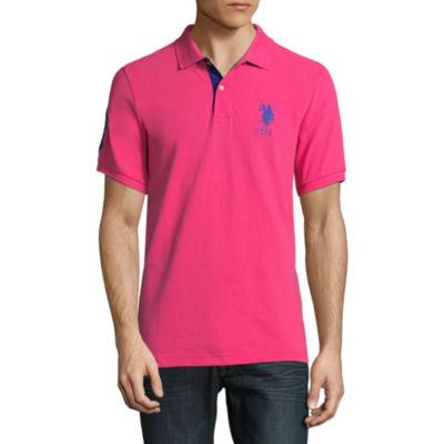 U.S. Polo Assn. Short Sleeve Big Pony Contrast Collar Polo Shirt