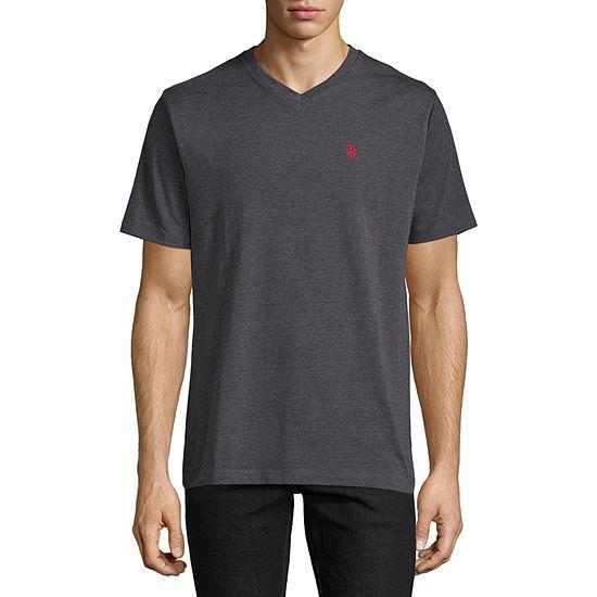 U.S. Polo Assn. Stretch Mens V Neck Short Sleeve T-Shirt