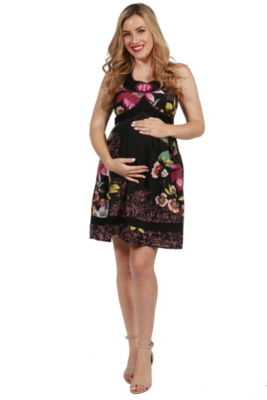 24/7 Comfort Apparel Kelly Maternity Dress