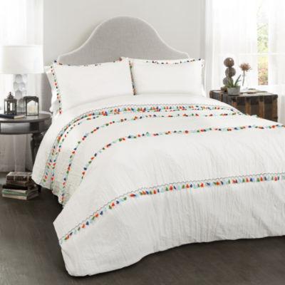 Lush Decor Boho Tassel Comforter 3 Pc Set