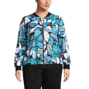 Alfred Dunner Play Date Tropical Jacket- Plus