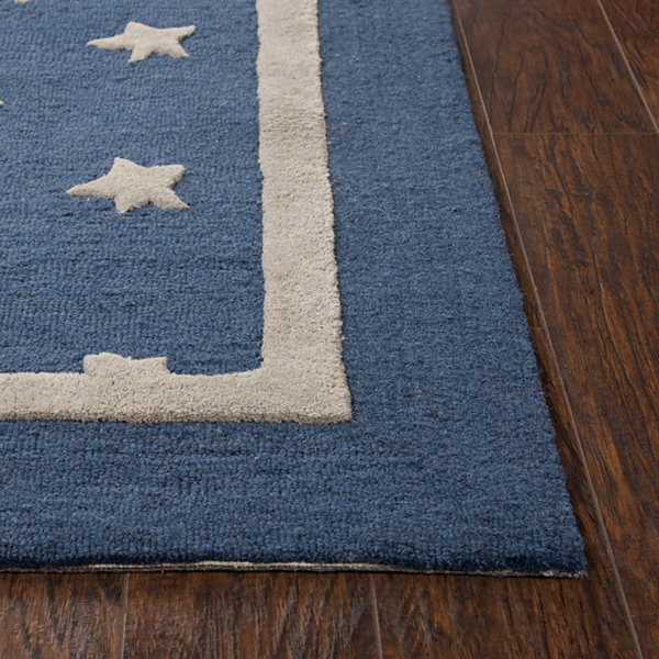 Rizzy Home Andrew Charles-Caterine Collection AnyaHand-Tufted Star Area Rug