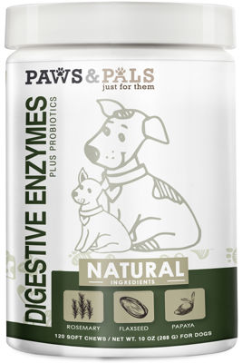 Paws & Pals Dog Digestive Enzymes Plus Probiotics Vitamins - 120 Count