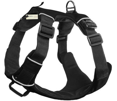 Paws & Pals Pet Harness for Dogs Cats - Padded Nylon Mesh Vest