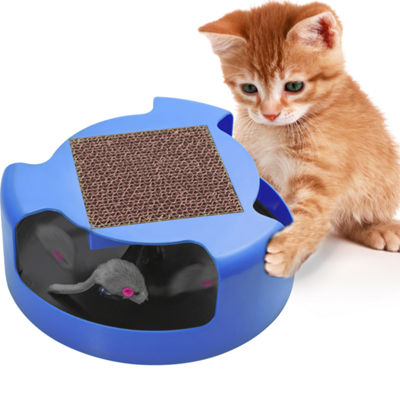 Paws & Pals Cat Mouse Play Toy with Turbo Scratching Post Pad