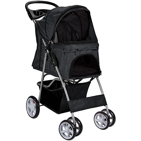 Paws & Pals Folding Pet Stroller - 4 Wheel