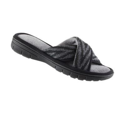 Isotoner Chevron Cross Slide Slip-On Slippers