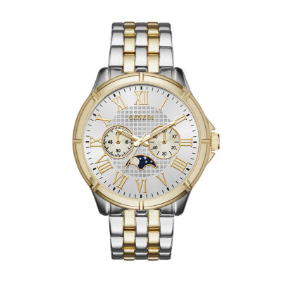 Geneva Mens Two-Tone Bracelet Watch