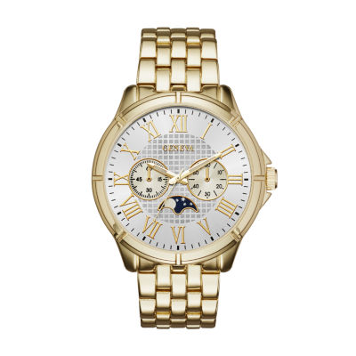 Geneva Mens Gold-Tone Bracelet Watch